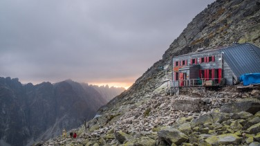 Sun set from the hut