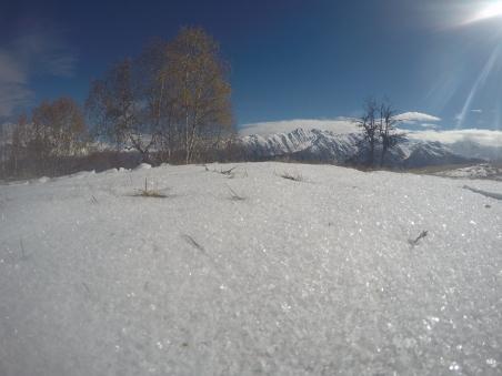 Vo vyssich polohach uz mame cerstvy sneh, oktober 2016